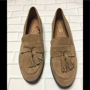 Bass Flex Step Suede Loafers with Tassels